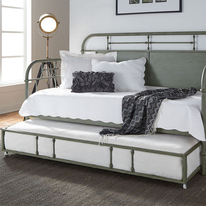 Liberty Furniture | Bedroom Twin Metal Day Bed With Trundle - Green in Lynchburg, VA 6781