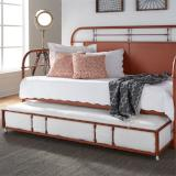 Liberty Furniture | Bedroom Twin Metal Day Bed With Trundle - Orange in Richmond,VA 6784