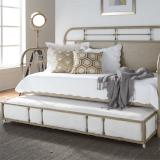 Liberty Furniture | Bedroom Twin Metal Day Bed With Trundle - Vintage Cream in Lynchburg, VA 6770