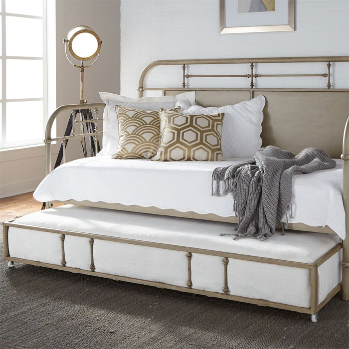 Liberty Furniture | Bedroom Twin Metal Day Bed With Trundle - Vintage Cream in Lynchburg, VA 6771