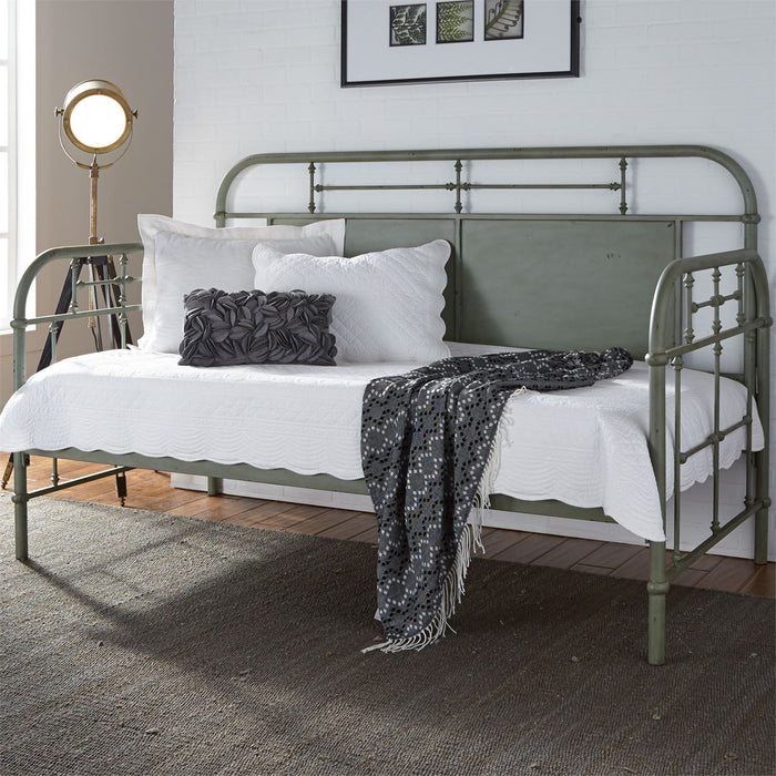 Liberty Furniture | Bedroom Twin Metal Day Bed With Trundle - Green in Lynchburg, VA 6782