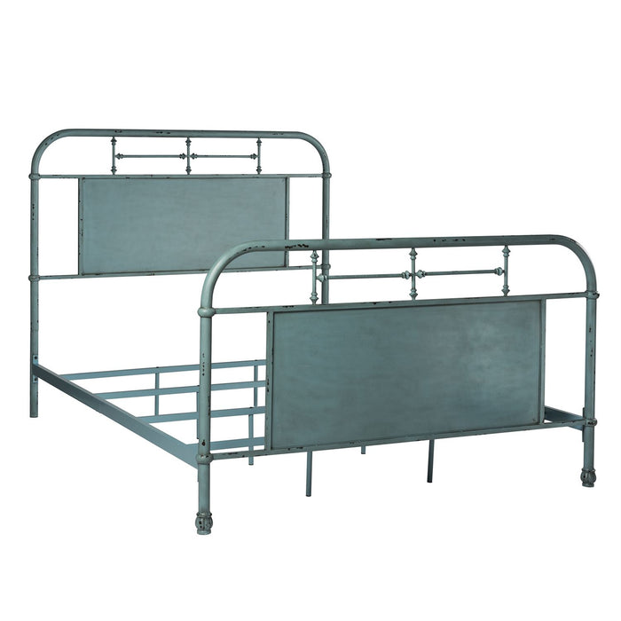 Liberty Furniture | Bedroom Queen Metal Bed - Blue in Richmond Virginia 6028