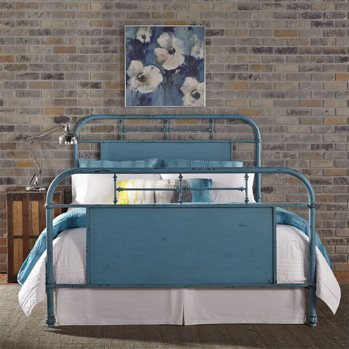 Liberty Furniture | Bedroom Queen Metal Bed - Blue in Richmond Virginia 6027