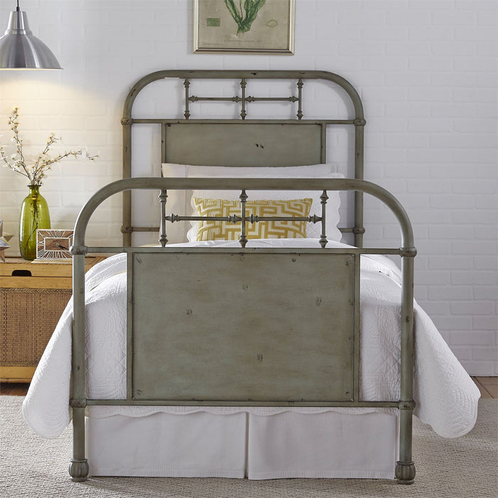 Liberty Furniture | Youth Full Metal Bed - Green in Richmond Virginia 5262