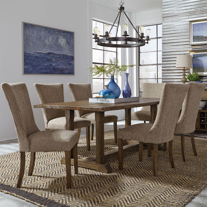 Liberty Furniture | Casual Dining 7 Piece Trestle Table Set in Annapolis, Maryland 3709