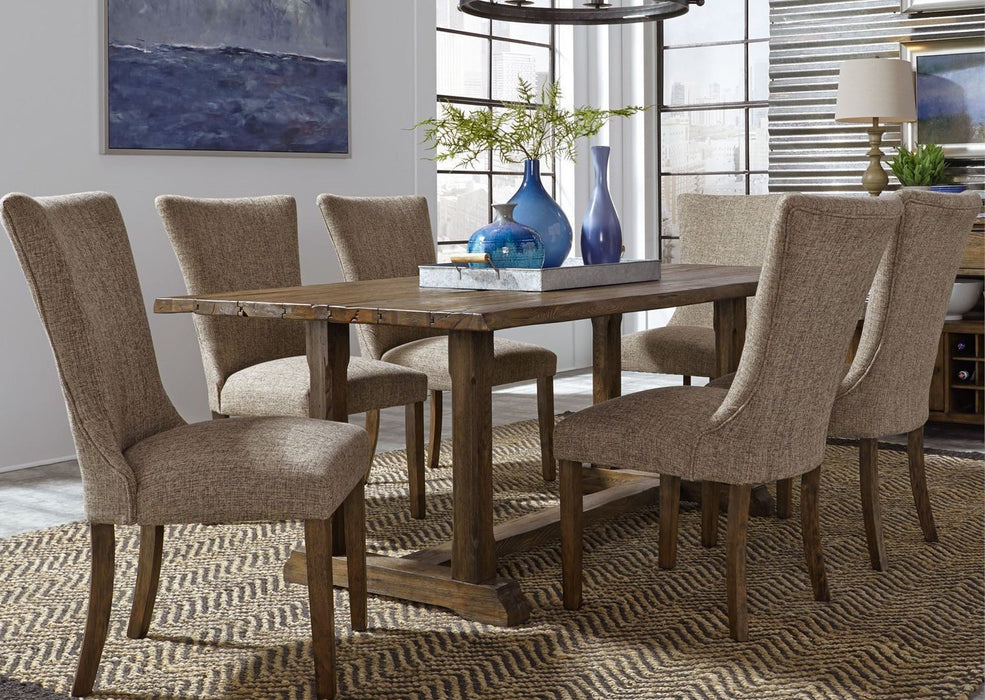 Liberty Furniture | Casual Dining 7 Piece Trestle Table Set in Annapolis, Maryland 3708