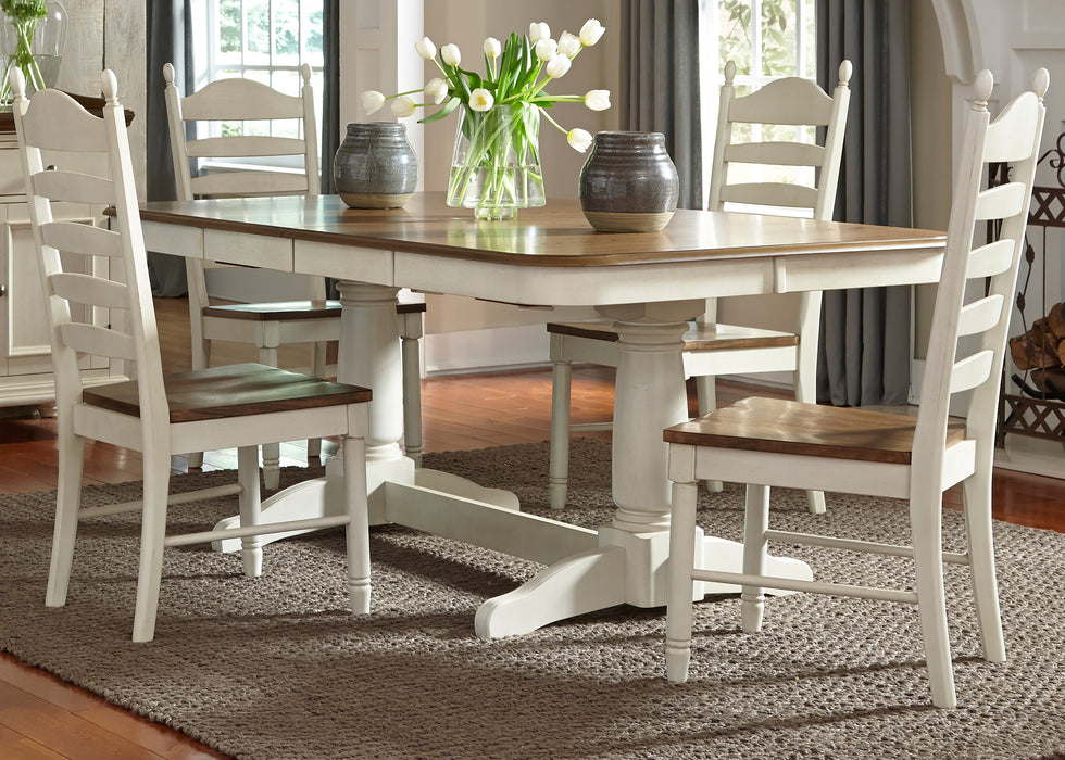 Liberty Furniture | Casual Dining 5 Piece Double Pedestal Table Sets in Fredericksburg, VA 385
