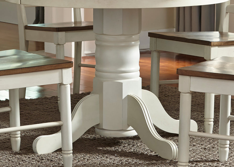 Liberty Furniture | Casual Dining 5 Piece Pedestal Table Sets in Lynchburg, Virginia 378