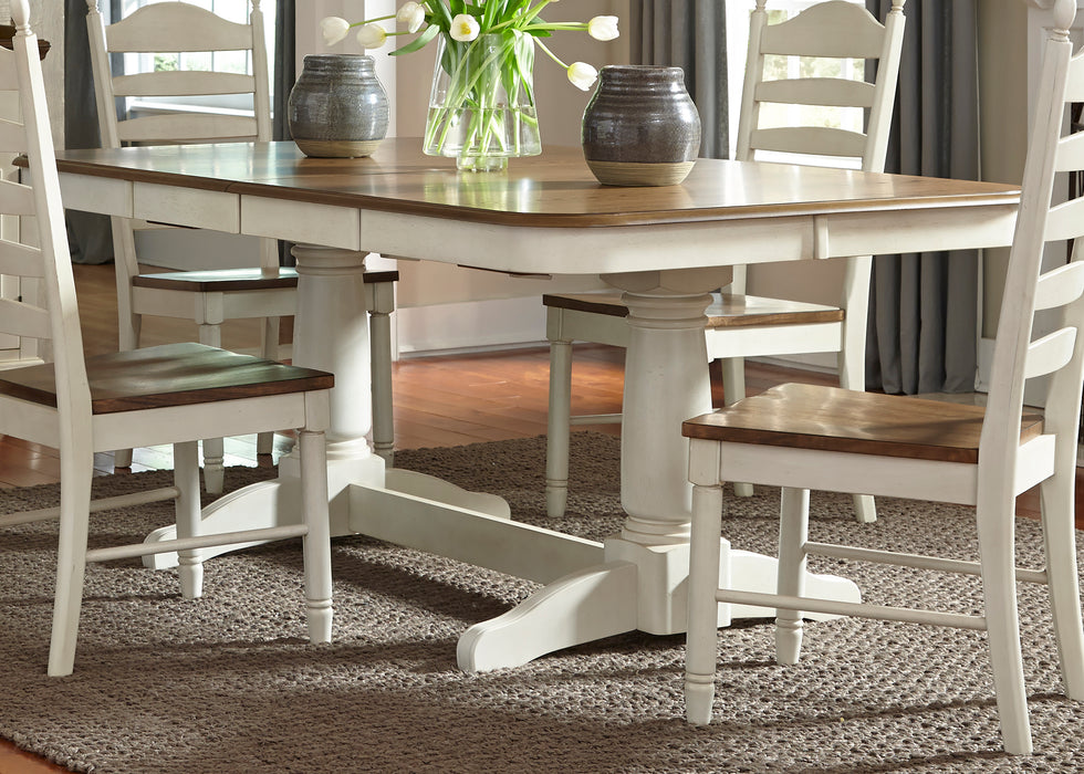 Liberty Furniture | Casual Dining 5 Piece Double Pedestal Table Sets in Fredericksburg, VA 387