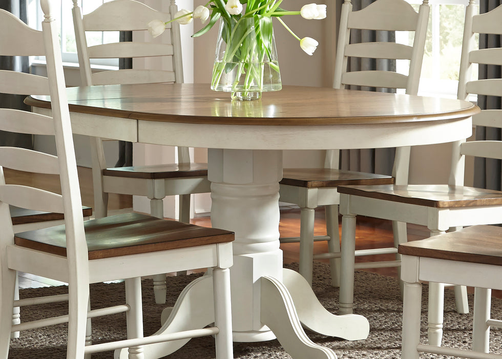 Liberty Furniture | Casual Dining 5 Piece Pedestal Table Sets in Lynchburg, Virginia 379