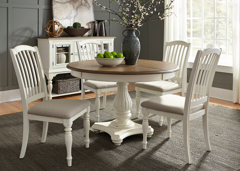 Liberty Furniture | Casual Dining 5 Piece Pedestal Table Sets in Washington D.C, MD 594