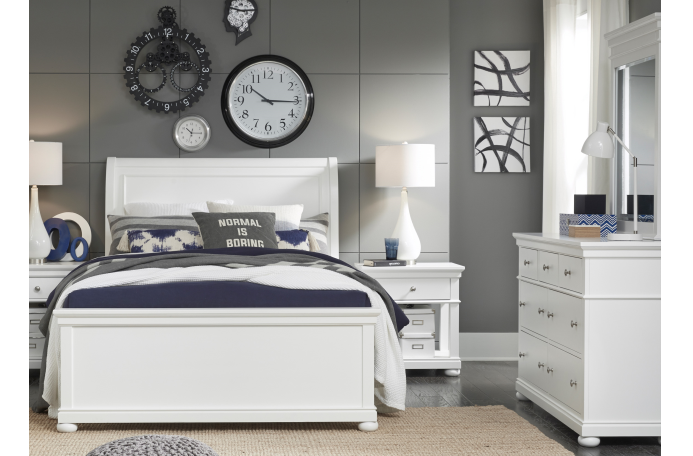 Legacy Classic Furniture | Youth Bedroom Complete Sleigh Bed Queen 4 Piece Bedroom Set in Richmond,VA 14013