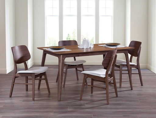 New Classic Furniture | Dining 60 Inch Rectangular Table 5 Piece Set in Lynchburg, Virginia 528