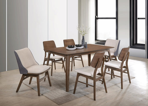 New Classic Furniture | Dining 60 Inch Rectangular Table 7 Piece Set in Charlottesville, VA 532