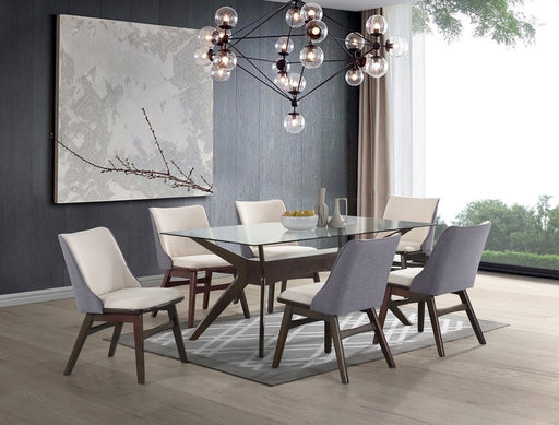 York Dining Table 7 Piece Set With Uph Chairs