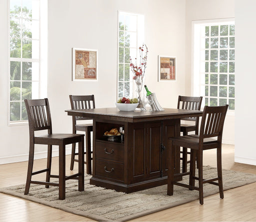 New Classic Furniture |  Dining Island Table 5 Piece Set in Annapolis, Maryland 583
