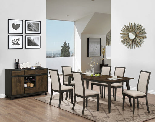 New Classic Furniture |  Dining Rectangular Table 6 Piece Set in Charlottesville, Virginia 704