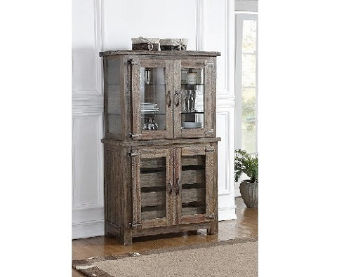 Tuscany Park Dining Curio Cabinet w/ Glass Door Base