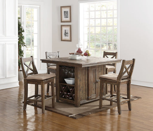 Tuscany Park Dining Counter Table 5 Piece Set