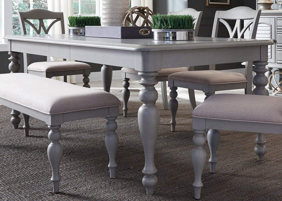 Summer House Casual Dining Rectangular Leg Table