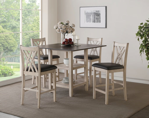 New Classic Furniture |  Dining Counter Table 5 Piece Set in Richmond,VA 539