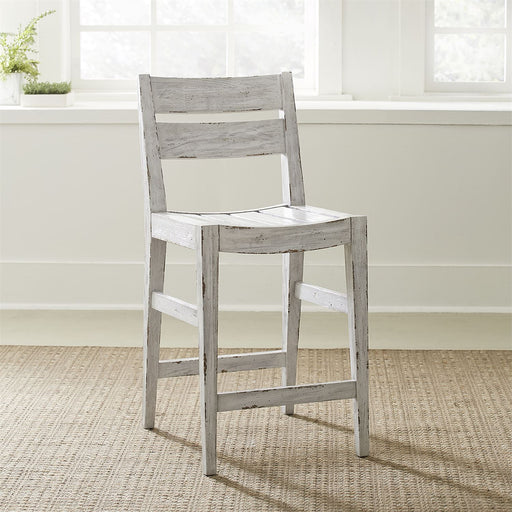 Liberty Furniture | Casual Dining Slat Back Counter Height Chair - White in Richmond,VA 18882