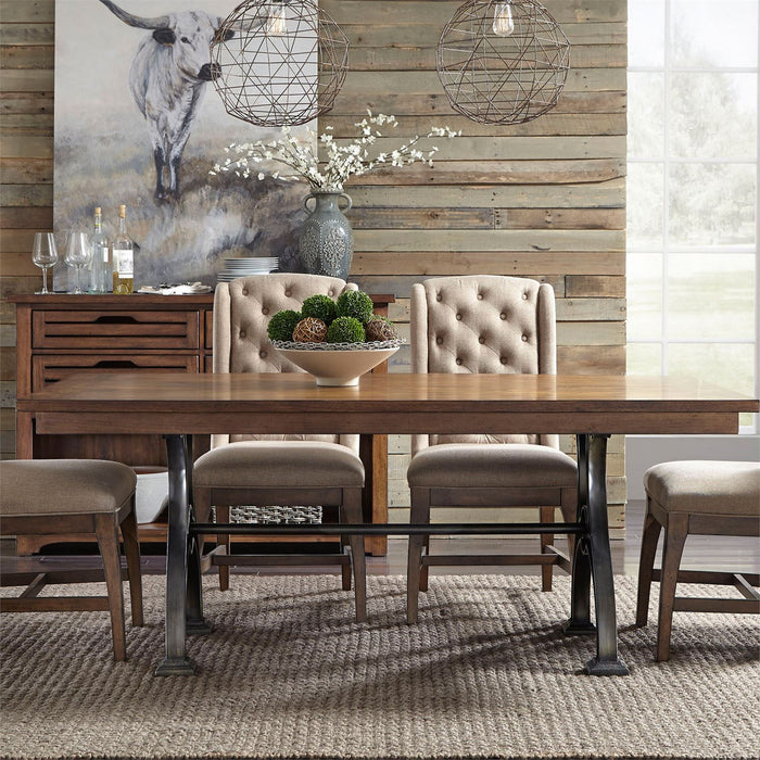 Liberty Furniture |Dining Opt 6 Piece Trestle Table Set in Baltimore, Maryland 7261