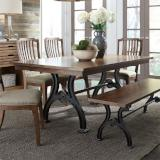 Liberty Furniture |Dining Opt 6 Piece Trestle Table Set in Baltimore, Maryland 7259