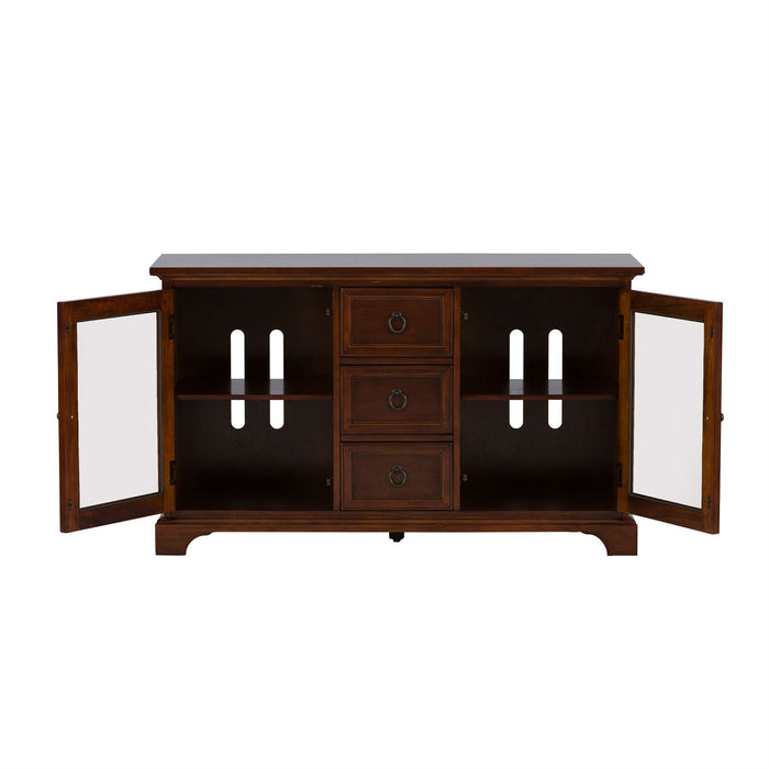 Liberty Furniture | Entertainment TV Console - 54 Inch - Cherry in Lynchburg, Virginia 4381
