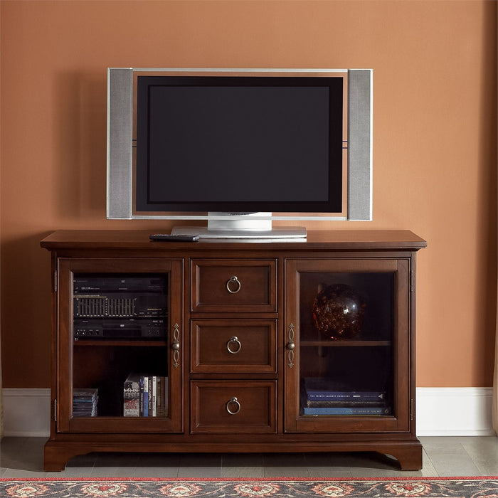 Liberty Furniture | Entertainment TV Console - 54 Inch - Cherry in Lynchburg, Virginia 1447