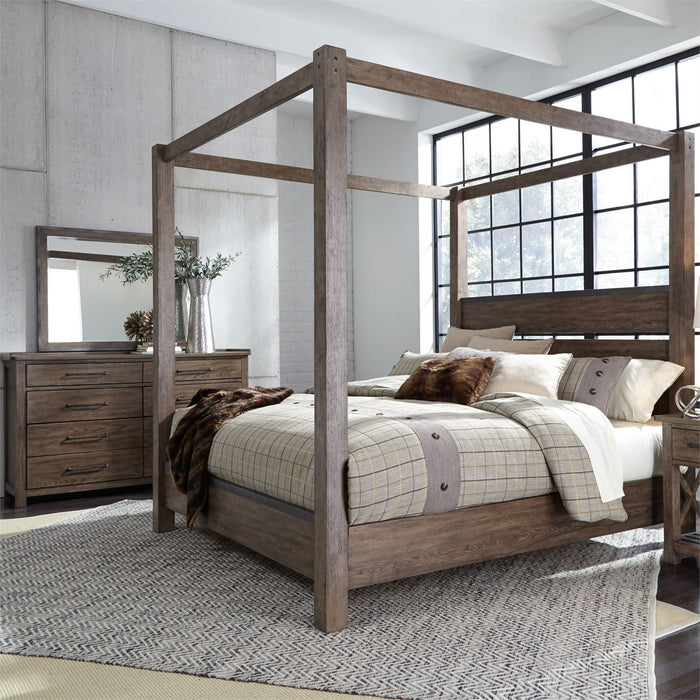 Sonoma Road Bedroom King Canopy 4 Piece Bedroom Set