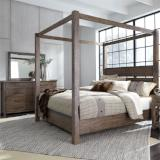 Liberty Furniture | Bedroom King Canopy 4 Piece Bedroom Set in Pennsylvania 4830