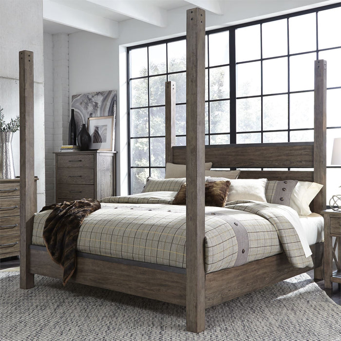 Liberty Furniture | Bedroom King Poster 4 Piece Bedroom Set in Pennsylvania 4893