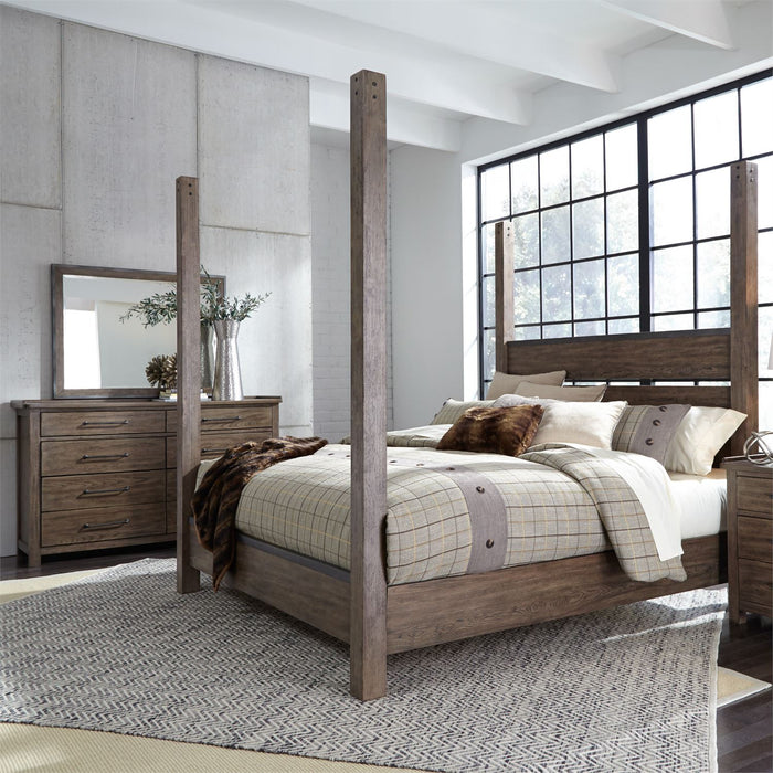 Liberty Furniture | Bedroom King Poster 4 Piece Bedroom Set in Pennsylvania 4892