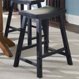 Liberty Furniture | Casual Dining 24 Inch Sawhorse Barstools - Black in Richmond,VA 10389