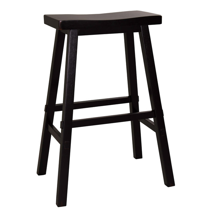 Liberty Furniture | Casual Dining 30 Inch Sawhorse Barstools - Black in Richmond Virginia 10399
