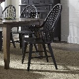 Liberty Furniture | Black Dining Windsor Back Arm Chair in Richmond,VA 19032