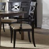 Liberty Furniture | Dining X Back Arm Chairs - Black in Richmond,VA 10966
