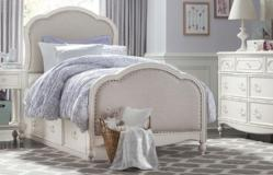 Legacy Classic Furniture | Youth Bedroom Victoria Upholstered Panel Bed Twin 3 Piece Bedroom Set in Frederick, Maryland 10886