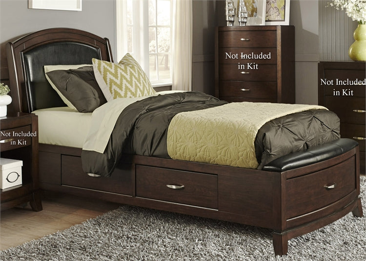 Liberty Furniture | Bedroom Full One Sided Storage Beds in Charlottesville, VA 100