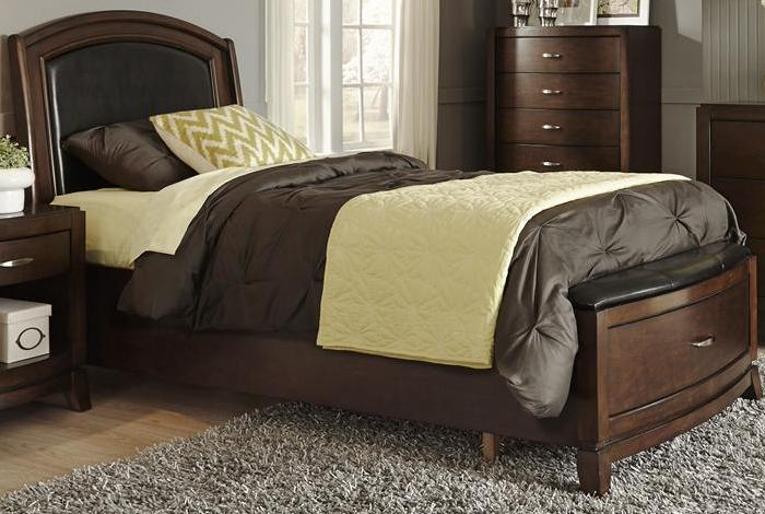 Liberty Furniture | Bedroom Twin Leather Storage Beds in Winchester, VA 92