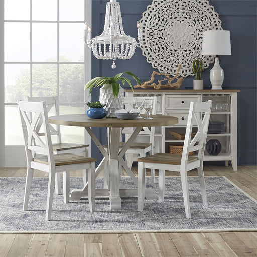 Liberty Furniture | Casual Dining 5 Piece Round Table Set- White in Winchester, VA 18172