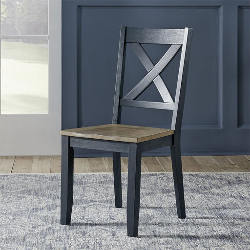 Liberty Furniture | Casual Dining X Back Side Chair- Navy (RTA) in Richmond,VA 18166