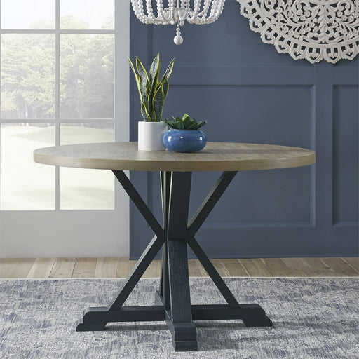 Liberty Furniture | Casual Dining Single Pedestal Table- Navy in Richmond,VA 18170