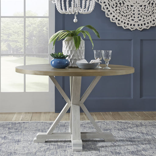 Liberty Furniture | Casual Dining Single Pedestal Table- White in Richmond,VA 18168