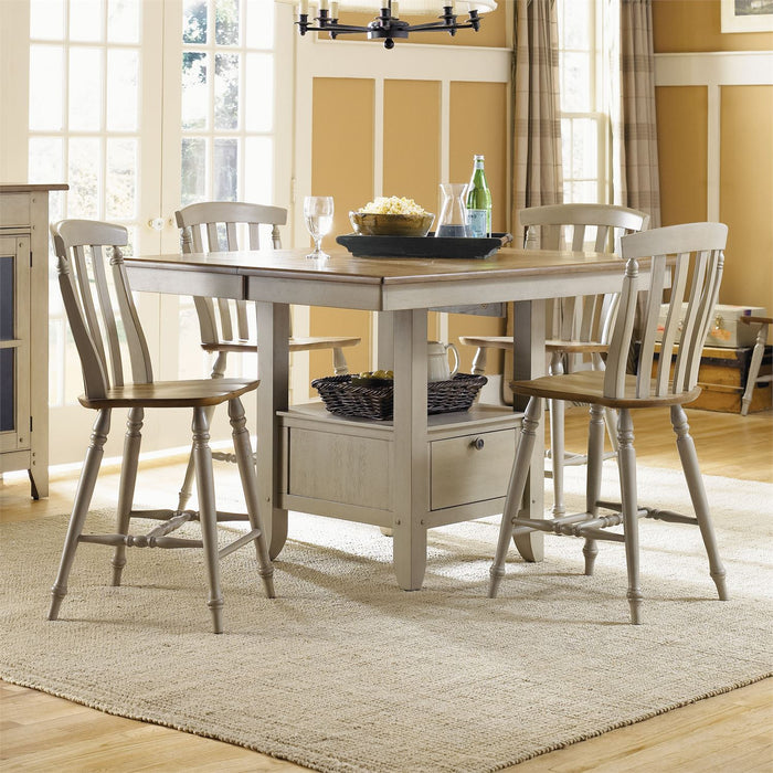 Liberty Furniture | Casual Dining 5 Piece Gathering Table Set in Annapolis, MD 7571