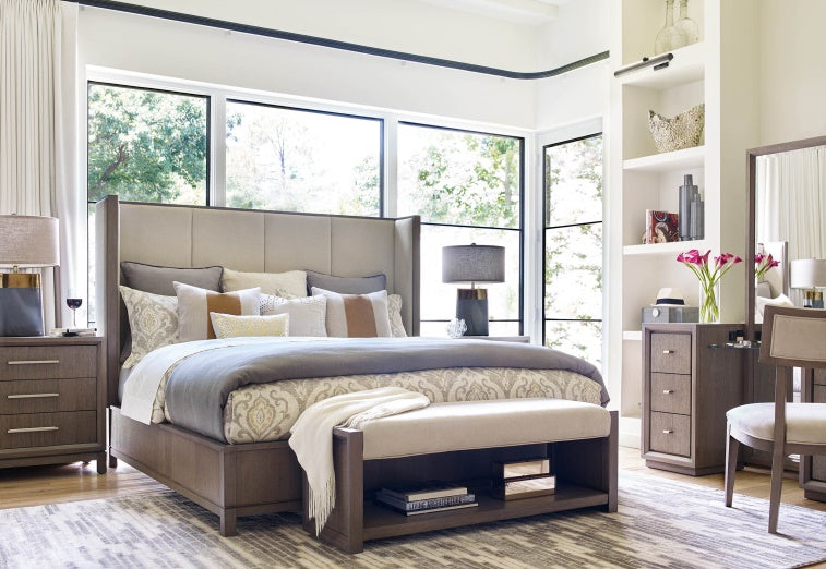 Legacy Classic Furniture | Bedroom Queen Uph Shelter Bed 4 Piece Bedroom in New Jersey, NJ 6842