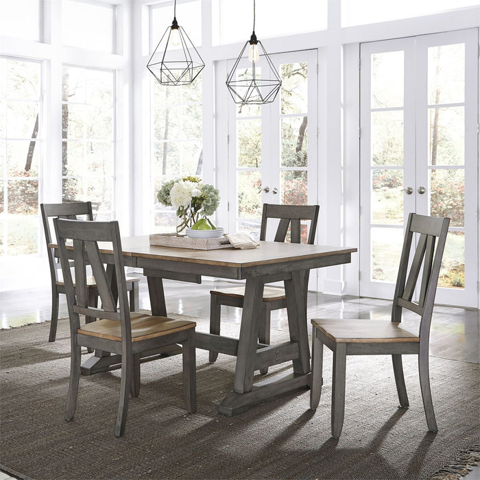 Liberty Furniture | Casual Dining 5 Piece Trestle Table Set in Baltimore, Maryland 7836