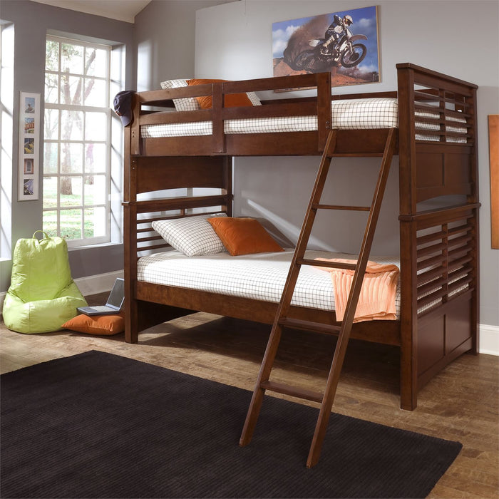 Chelsea Square Youth Twin Loft Bed w Cork Bed