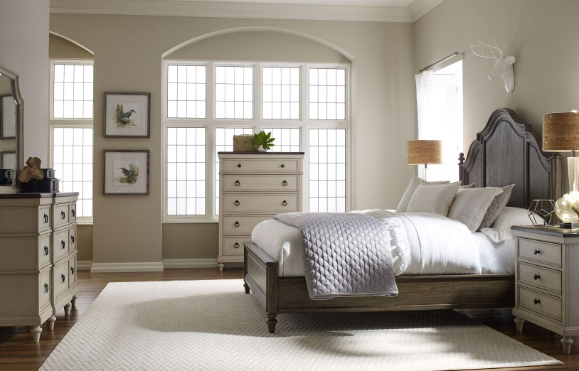 Brookhaven Bedroom King Panel Bed With Storage Footboard 3 Piece Bedroom Set in Pennsylvania 2947